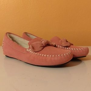 Cole Haan Flats House Slippers Moccasin Suede NWOT